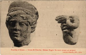 CPA Fouilles d'ALÉSIA - Croix-St-Charles déesse hygiée serpent (116090)