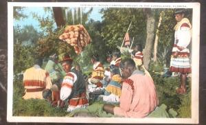 Mint USA PPC Picture Postcard Native American Seminole Indian Camping Evergla