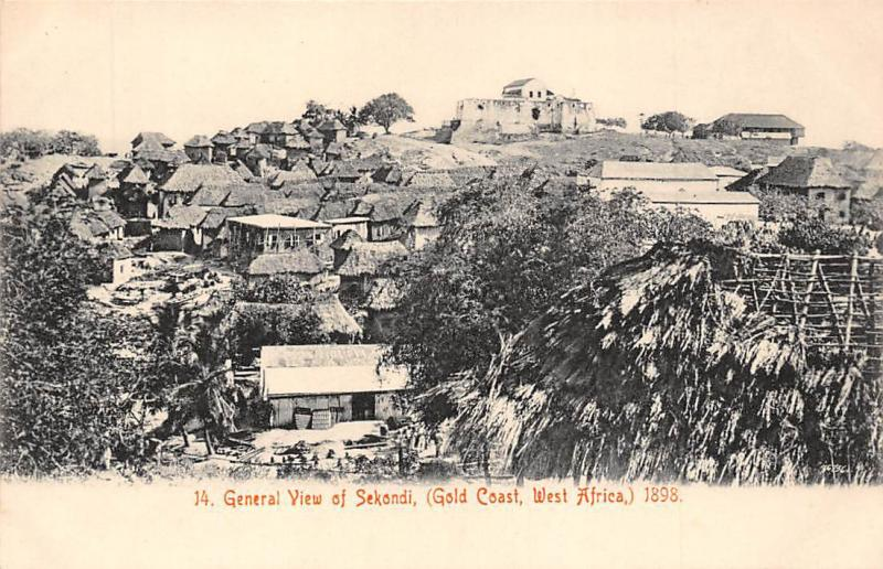 Ghana Gold Coast General view of Sekondi postcard