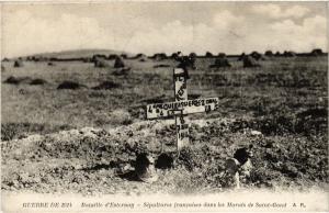 CPA Militaire, Bataille d'Esternay - Sepultures francaises dans les Mar (278833)