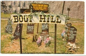 Boot Hill Cemetery, Frontier City USA, Oklahoma Postcard