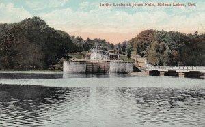 RIDEAU LAKES, Ontario, Canada, 1900-1910's; In The Locks At Jones Falls