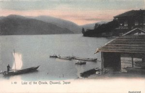 Lake of the Clouds, Chuzenji, Japan, Early Hand Colored Postcard, Unused