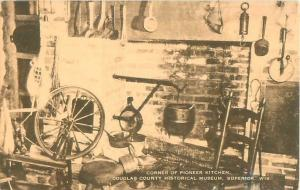 Superior, Wisconsin Douglas County Historical Museum Pioneer Kitchen DB Postcard