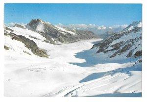 Switzerland Alps Jungfraujoch View of Aletsch Glacier Vintage H Meier Postcard