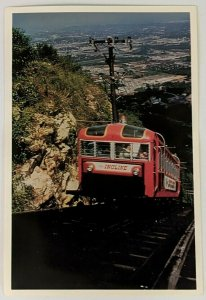 1960s Chattanooga TN Lookout Mountain Incline Railway Train Postcard