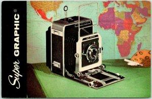 GRAFLEX Super Graphic Camera Advertising Postcard Nichols Cameras Bristol PA