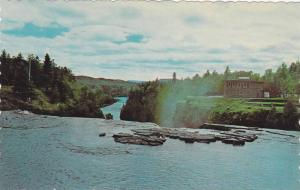Kakabeka Falls and Green Mantle Pavillion over looking the Falls, Ontario, Ca...