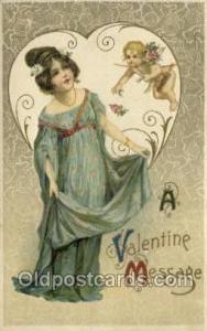 Artist Samuel Schmucker Valentines Day, Old Vintage Antique Postcard Post Card