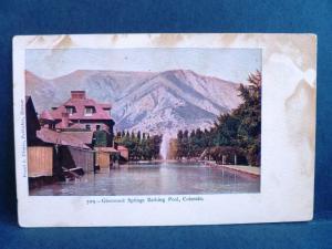 Postcard CO Glenwood Springs Bathing Pool Frank Thayer Publisher Pre 1908