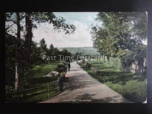 Essex COLCHESTER Castle Park shows Park Keeper c1903 by Valentine 41149