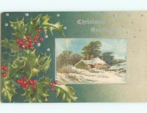 Divided-Back CHRISTMAS SCENE Great Postcard W8887
