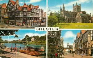 The Cross Cathedral River Dee East Gate Chester UK pm Postcard