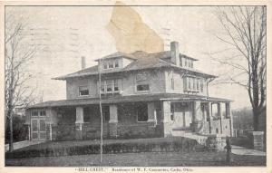 E72/ Cadiz Ohio Postcard Harrison County 1914 HillCrest Gammeter Home
