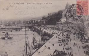 France Le Treport Perspective du Quai et du Port 1906