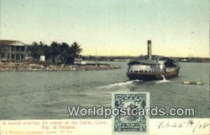 Mouth of the Canal, Colon Republic of Panama Panama 1908 Stamp on front
