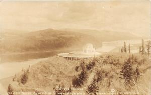 Columbia River Highway Oregon~Vista House @ Crown Point~1924 Real Photo Postcard