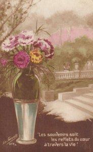 STILL LIFE, 1900-10s; Vase of Chrysanthemums