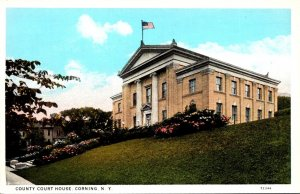 New York Corning County Court House Curteich