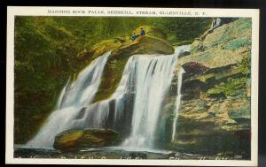 Hanging Rock Falls Ellenville New York unused c1920's