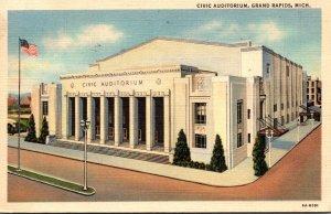 Michigan Grand Rapids Civic Auditorium 1946 Curteich