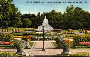 Indiana Indianapolis Garfield Park Sunken Gardens and Fountain