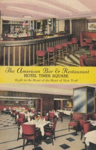 NEW YORK CITY, 30-40s; American Bar & Restaurant, Hotel Times Square, 2-views