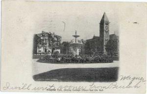 Allegheny Park, Library & City Hall,Pennsylvania, PA 1906 : UNDivided Back