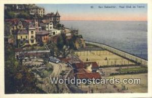 Spain Postcard España Tarjeta Postal Real Club de Tennis, San Sebastian San ...