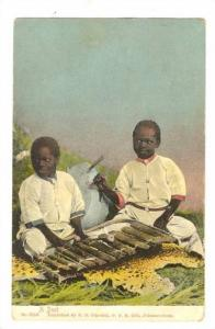Showing Two Black Boys, A Duet, South Africa, 1900-1910s