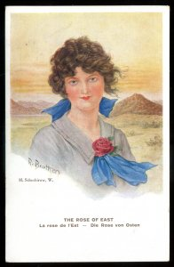 dc1649 - Artist- R. BROTHERS Postcard 1910s M. Schechirow Rose of East