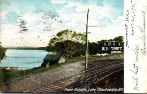 New York Lake Chautauqua Point Victoria 1905