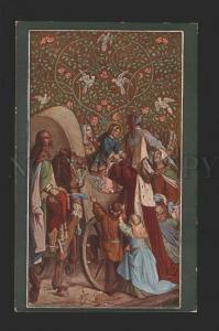 078458 ROYAL Family w/ HORSE by SCHWIND vintage color PC