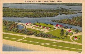 Bonita Beach Florida Air View of Val Halla Vintage Postcard AA21300