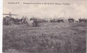 North Dakota Casselton Threshing Scene On Farm Of John B Sinner Harmony Towns...