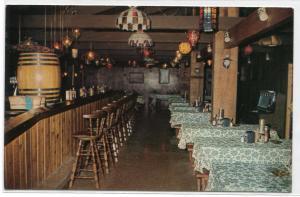 Brassel's Restaurant Bar Jukebox Port Clinton Ohio postcard