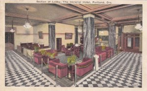 Oregon Portland The Imperial Hotel Section Of The Lobby sk4109
