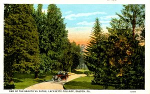 PA - Easton. Lafayette College, A Beautiful Path