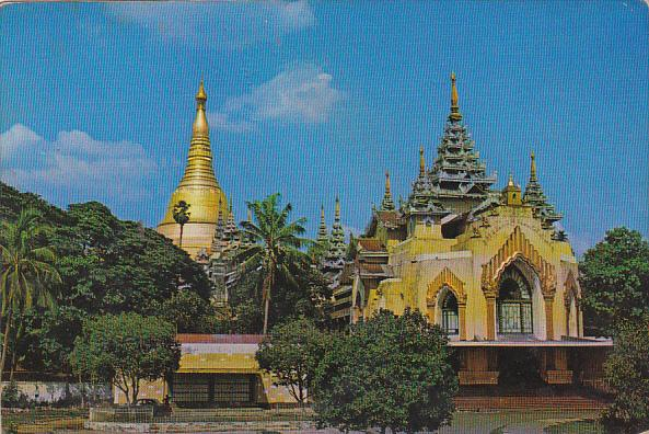 Mayanmar Burma West Gate View Of Shwedagon