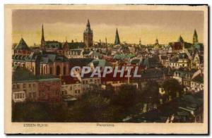 Old Postcard Essen Ruhr Panorama