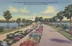 Florida Clearwater Memorial Causeway 1939 Curteich