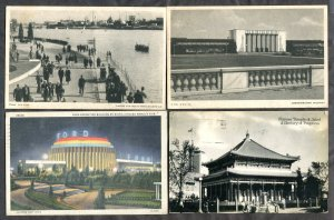 5239 - CHICAGO 1933 Lot of (4) World's Fair Postcards