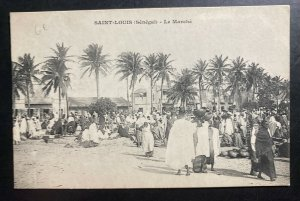 Mint French Senegal Real Picture Postcard RPPC St Louis Market View