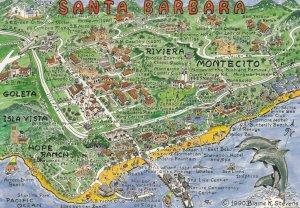 MAP : SANTA BARBARA , California , USA ,1990
