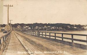Wiscasset ME Main Street From Bridge in 1915 RPPC Postcard
