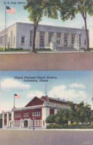 Illinois Galesburg Post Office and Illinois National Guard Armory Curteich