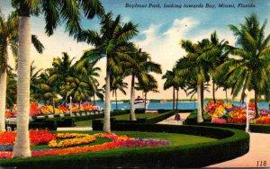 Florida Miami Bayfront Park Looking Towards Bay1955