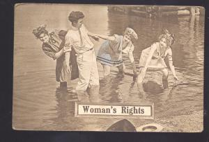 WOMAN'S RIGHTS SUFFRAGETTE RIGHT TO VOTE ANTIQUE VINTAGE POSTCARD
