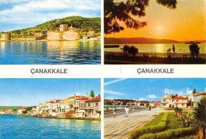Turkey Canakkale, Promenade Lake Sunset Castle Chateau