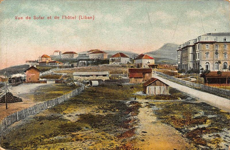 Lebanon Vue de Sofar et de L'Hotel Panorama Postcard